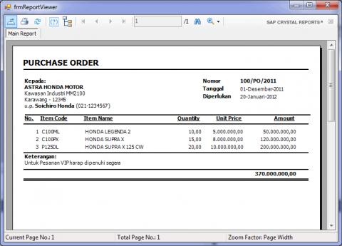 Tutorial Membuat Laporan Sederhana Menggunakan Crystal Report Di Visual Studio 2010 Pojok Programmer